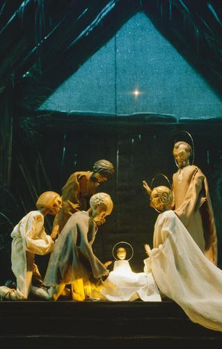 """""""Weihnachtsspiel"""" (Richard Teschner) - Anbetung der Hirten"""